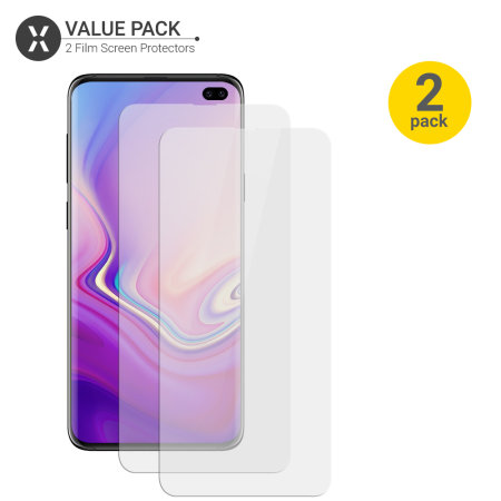 Olixar Samsung Galaxy S10 Plus Film Screen Protector 2-in-1 Pack