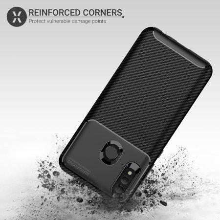 Olixar Carbon Fibre Huawei P Smart 2019 Case - Black