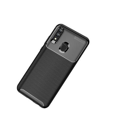 Coque Huawei Honor 10 Lite Olixar effet fibre de carbone – Noir