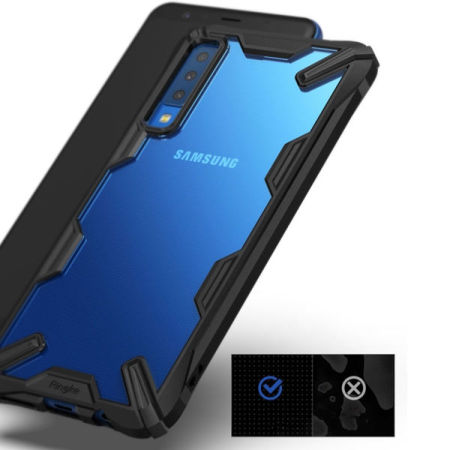 Rearth Ringke Fusion X Samsung Galaxy A7 2018 Case - Zwart
