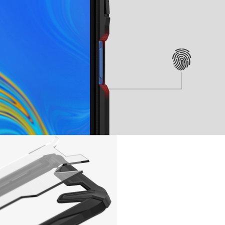 Rearth Ringke Fusion X Samsung Galaxy A7 2018 Case - Ruby Red