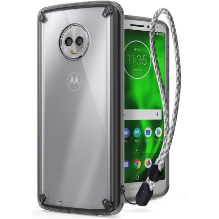 Funda Motorola Moto G6 Rearth Ringke Fusion - Negra