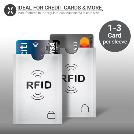 Olixar RFID Blocking Credit Card  Protection Sleeve - 2 Pack