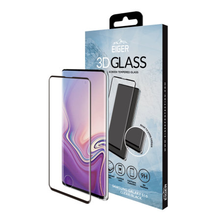 Eiger Samsung Galaxy S10 Edge to Edge Tempered Glass Screen Protector
