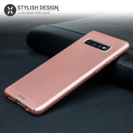 Olixar MeshTex Samsung Galaxy S10 Case - Rose Gold