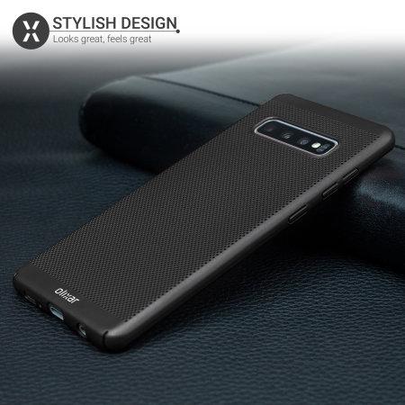 Olixar MeshTex Samsung Galaxy S10 Case - Tactical Black