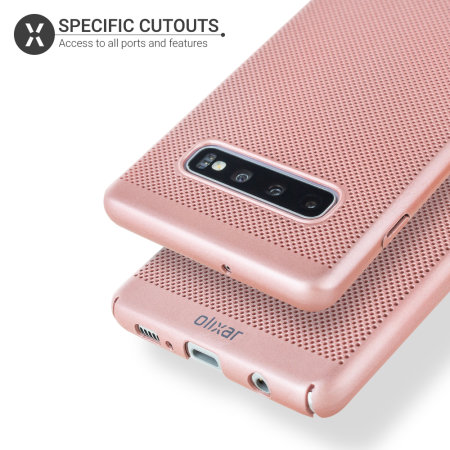 Olixar MeshTex Samsung Galaxy S10 Plus Case - Rose Gold