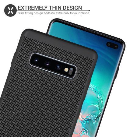 Olixar MeshTex Samsung Galaxy S10 Plus Case - Tactical Black