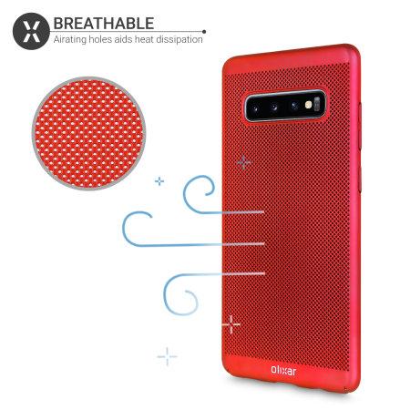 Olixar MeshTex Samsung Galaxy S10 Plus Case - Red