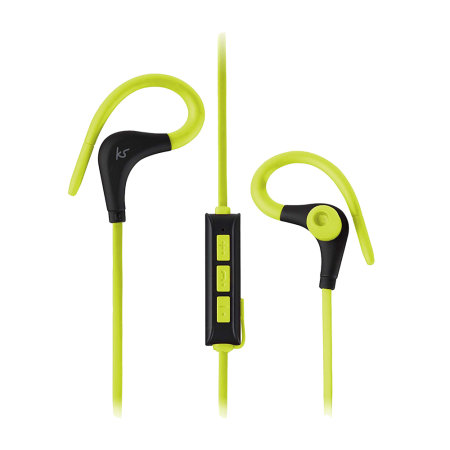 KitSound Bluetooth Race Sports Wireless Earphones - Green