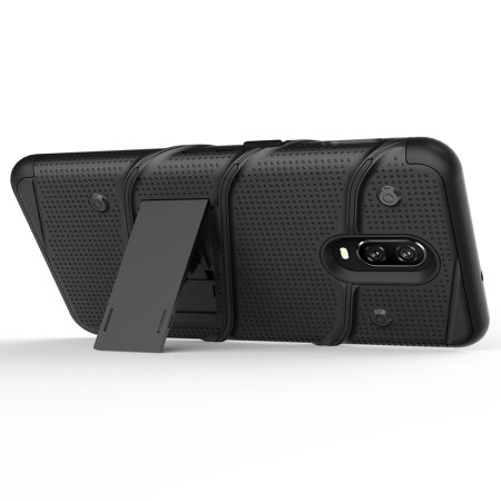 Zizo Bolt OnePlus 6T Tough Case & Screen Protector - Black