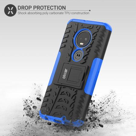 Olixar ArmourDillo Motorola Moto G7 Case - Blauw