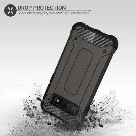 Olixar Delta Armour Protective Samsung Galaxy S10 Case - Gunmetal