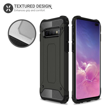 Olixar Delta Armour Protective Samsung Galaxy S10 Plus Case - Gunmetal