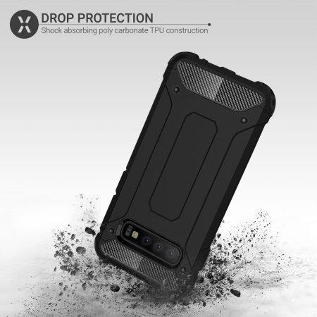 Olixar Delta Armour Protective Samsung Galaxy S10 Plus Case - Black