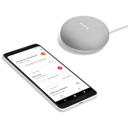 Google Home Mini Smart Speaker - Chalk