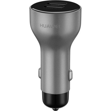 Official Huawei SuperCharge Dual Port Car Charger - Silver