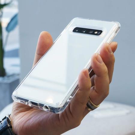 Custodia Posteriore Ringke Fusion Samsung Galaxy S10 Plus - chiaro