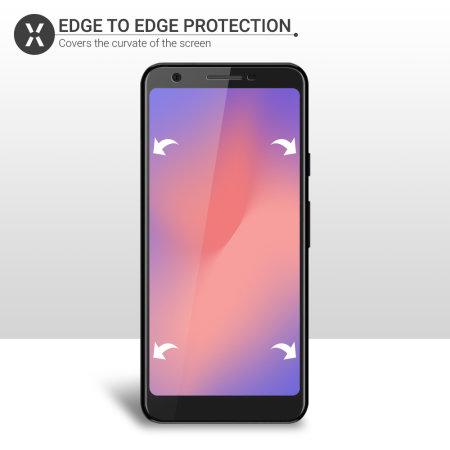 Olixar Google Pixel 3a Film Screen Protector 2-in-1 Pack