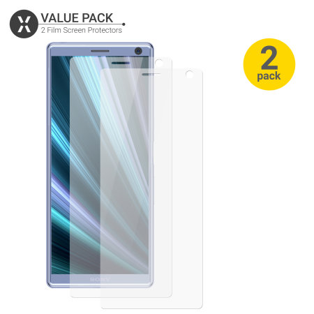 Olixar Sony Xperia 10 Film Screen Protector 2-in-1 Pack