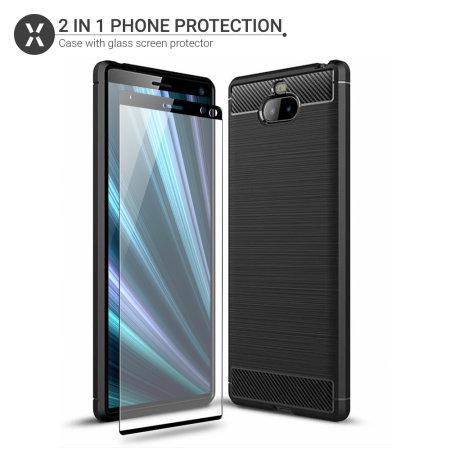 Olixar Sentinel Sony Xperia XA3 Gehäuse und Schutzfolie aus Glas