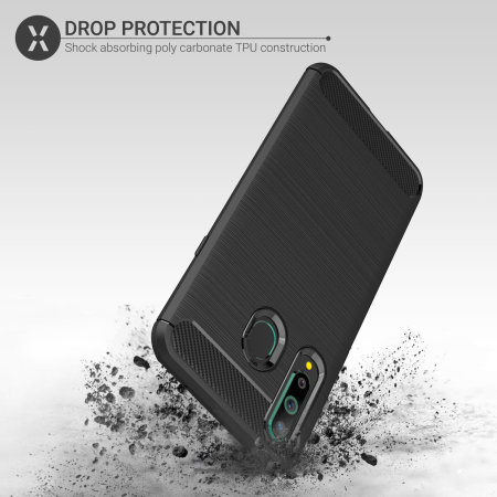 Olixar Sentinel Samsung A8S Gehäuse Bildschirmschutz - Schwarz