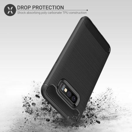 Cover e Pellicola protettiva  Olixar Sentinel Samsung S10e  - Nero