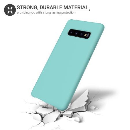 Olixar Samsung Galaxy S10 Soft Silicone Case - Pastel Green