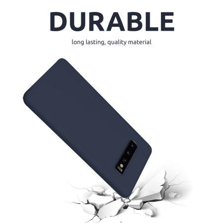 Olixar Samsung Galaxy S10 Soft Silicone Case - Midnight Blue