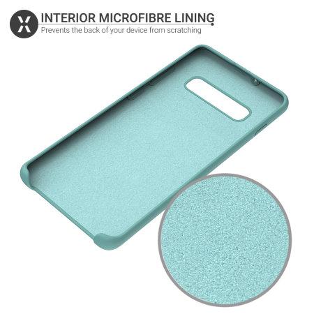 Olixar Samsung Galaxy S10 Plus Soft Silicone Case - Pastel Green