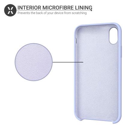 Funda iPhone XR Olixar Soft Silicone - Lila