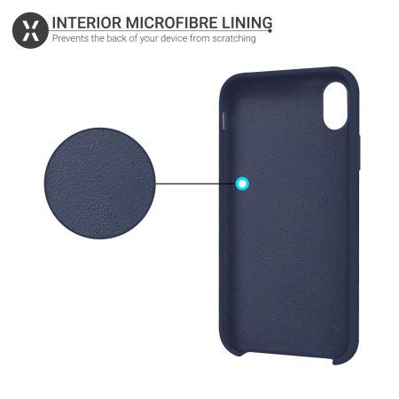 Olixar iPhone X Soft Silicone Case - Midnight Blue
