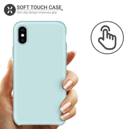 Olixar iPhone X Soft Silicone Case - Pastel Green