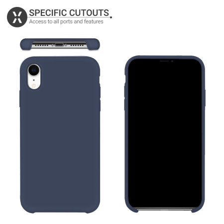 Olixar iPhone XR Soft Silicone Case - Midnight Blue