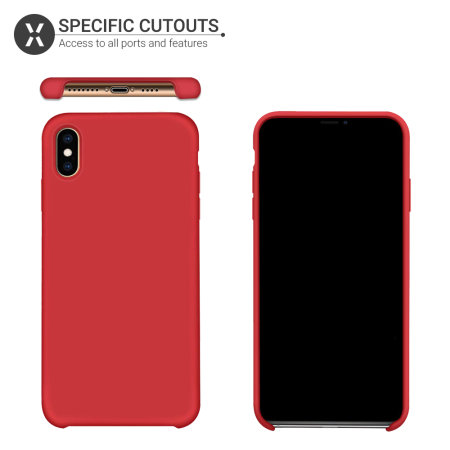 Funda iPhone XS Max Olixar Soft Silicone - Roja