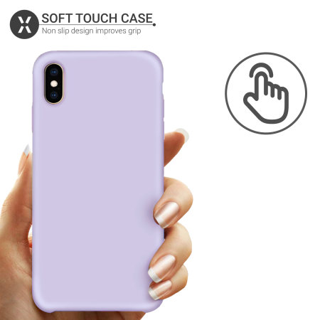 Olixar iPhone XS Max Soft Silicone Case - Lilac