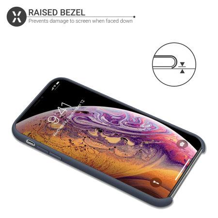 Funda iPhone XS Max Olixar Soft Silicone - Azul Medianoche