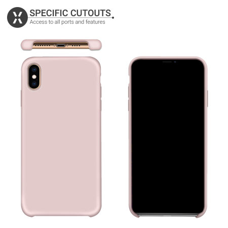 Olixar iPhone XS Max Soft Silicone Case - Pastel Pink