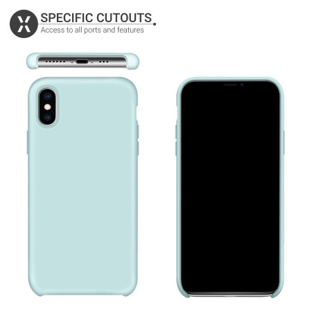 Olixar iPhone XS Max Soft Silicone Case - Pastel Green