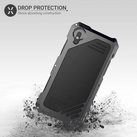 Olixar Titan Clip Armour Protective iPhone XS / X Case - Gunmetal