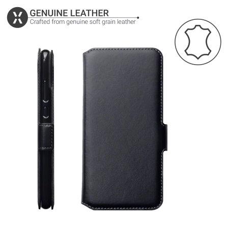 Olixar Huawei P Smart 2019 Genuine Leather Wallet Case - Black