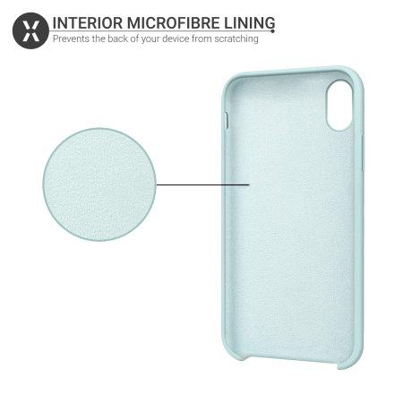 Olixar iPhone XS Weiche Silikonhülle - Pastellgrün