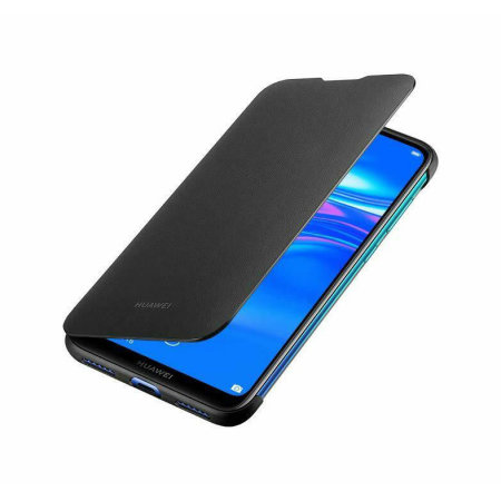great fit eab95 5c7f0 Official Huawei Y7 2019 Flip Cover Case - Black