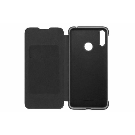 Official Huawei Y7 2019 Flip Cover Case - Black