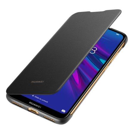 Tidsmæssigt Official Huawei Y6 2019 Flip Back Cover Case - Black LL-91