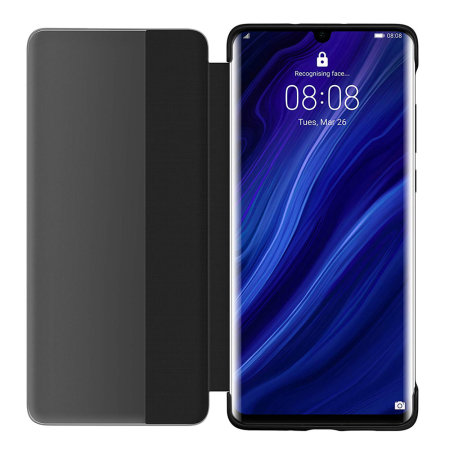 Official Huawei P30 Pro Smart View Flip Cover Slim Case  - Black