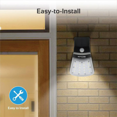 Promate Super Bright Outdoor Solar Light with Dual Lighting Modes