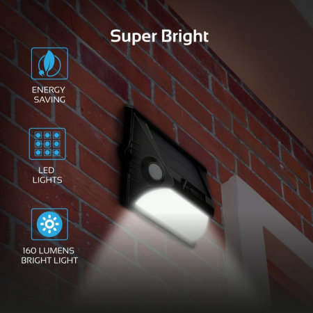 Promate Outdoor Solar Powered LED Light with Dual Motion Activators