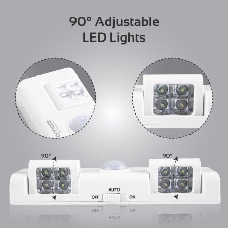 Promate MotionFlux Indoor Motion Activated  LED Lights - White