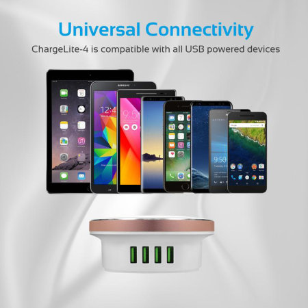 Promate High Power USB Charging Hub with LED Night Light